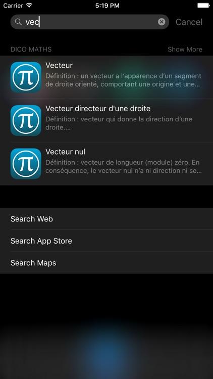 Dictionnaire de Maths screenshot-3