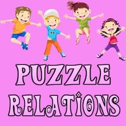 Animals Puzzle Relations Kids