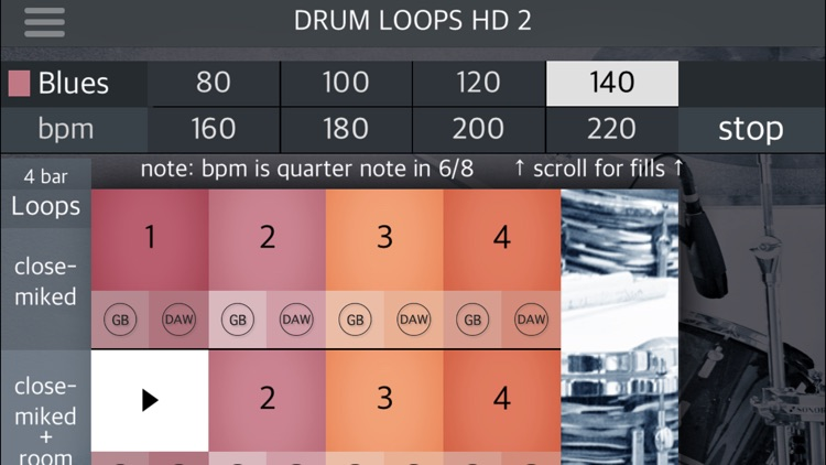 Drum Loops HD 2 screenshot-1