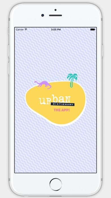 Screenshot 0 for Urban Dictionary's iPhone app'