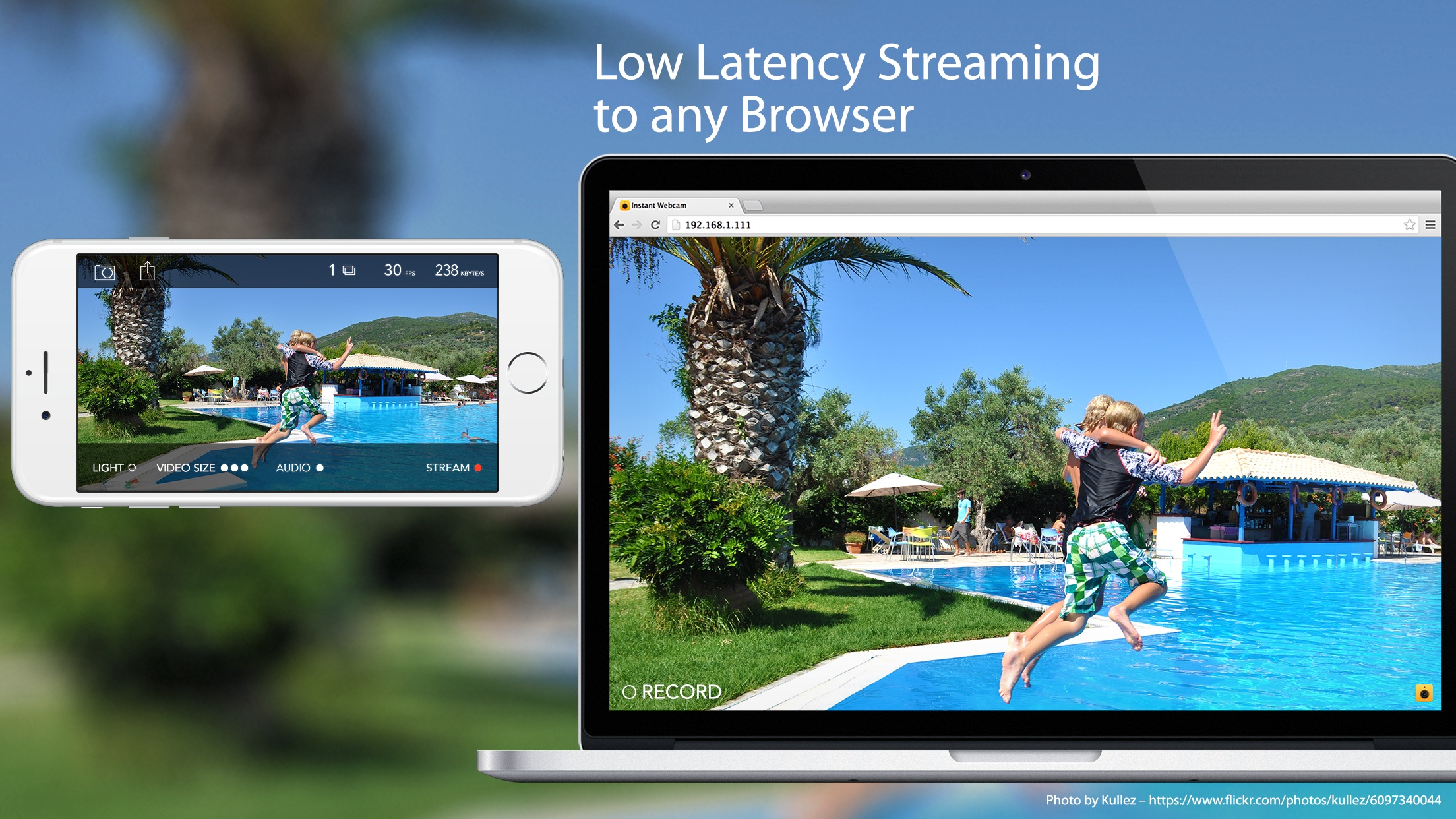 Screenshot do app Instant Webcam