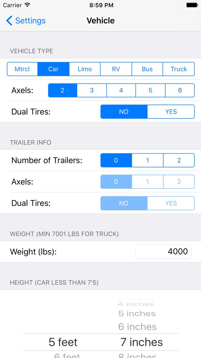 Toll Calculator GPS Navigation Screenshot