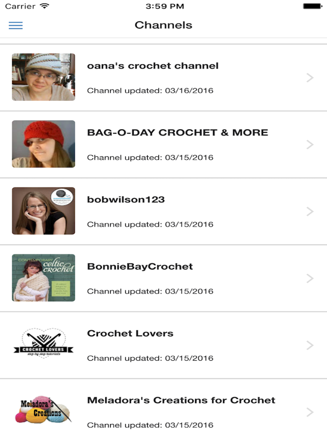 Crochet Best Channels On The App Store