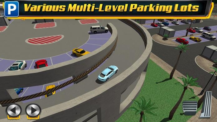 Multi Level 4 Car Parking Simulator a Real Driving Test Run Racing Games Screenshot