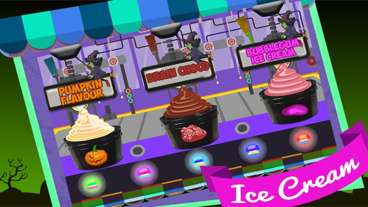 Zombie Ice Cream Factory Simulator - Learn how to make frozen snow cone,frosty icee popsicle and pops for zombies in this kitchen cooking game screenshot-3
