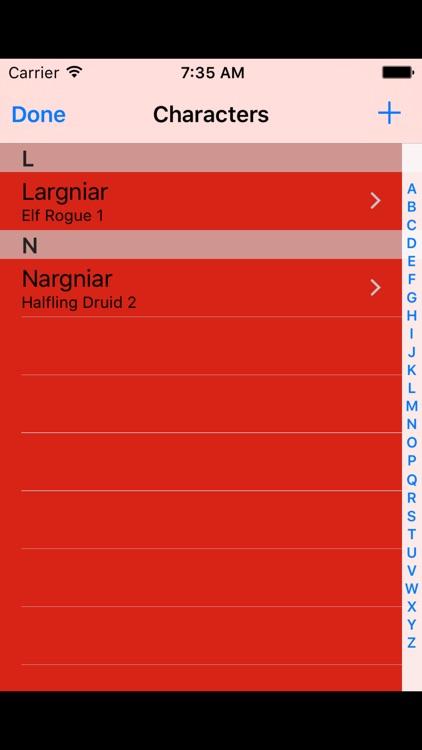 DnD5 Character Sheet