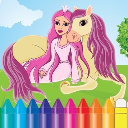 Princess Coloring Book for a Little Preschool Toddler Girls