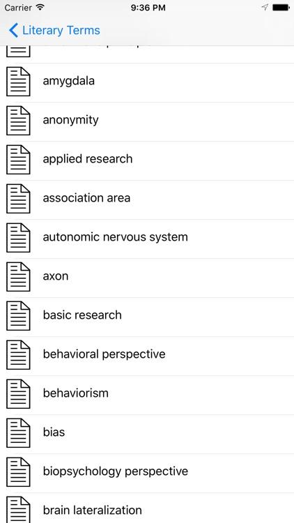 Psychology Terms Dictionary & Flashcards screenshot-3