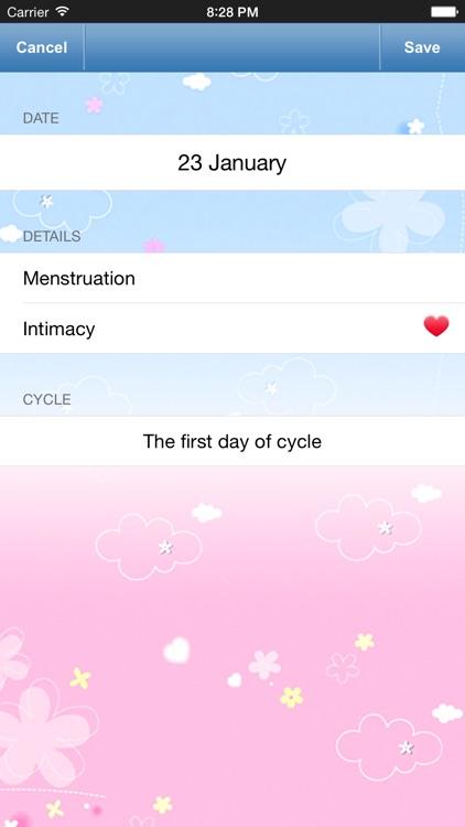Menstrual Calendar for Men - Ovulation Calculator, Fertility & Period Tracker to Get Pregnant screenshot-3