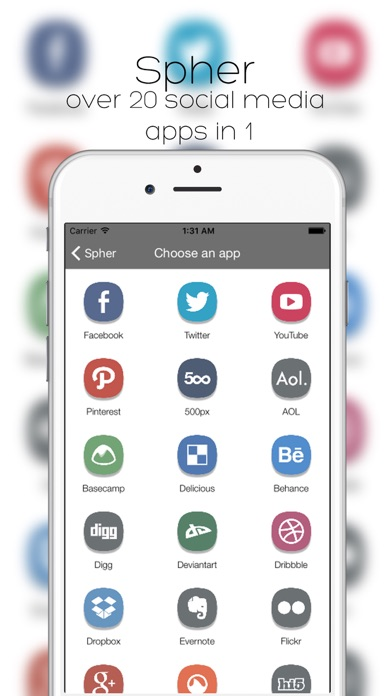 Spher - All Social Media Apps (In One) Screenshots