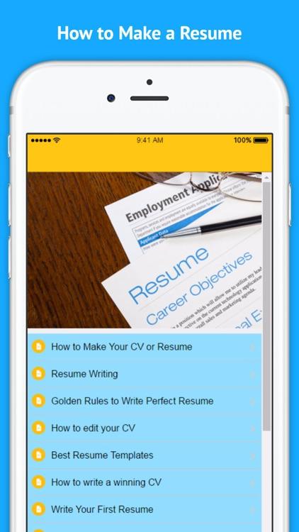 How to Make a Resume screenshot-3