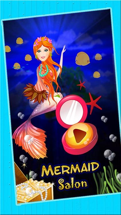 Mermaid Princess Spa Makeover Salon - An Underwater aquatic dress up & make up fairy tale game for girls screenshot-4