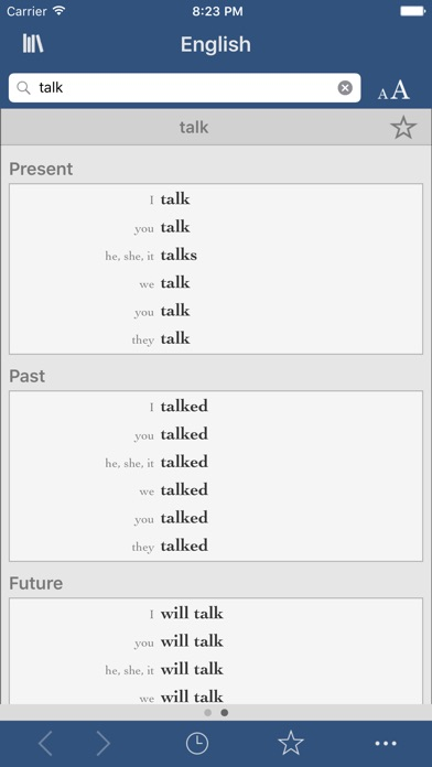 Collins English Dictionary and Verbs screenshot two