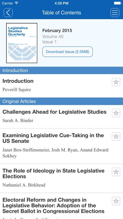 Legislative Studies Quarterly