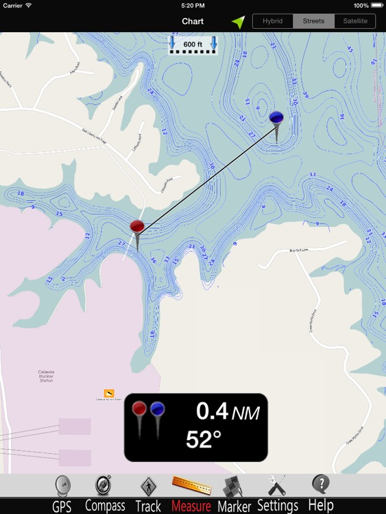 Lake Wylie Nautical charts HD screenshot-3