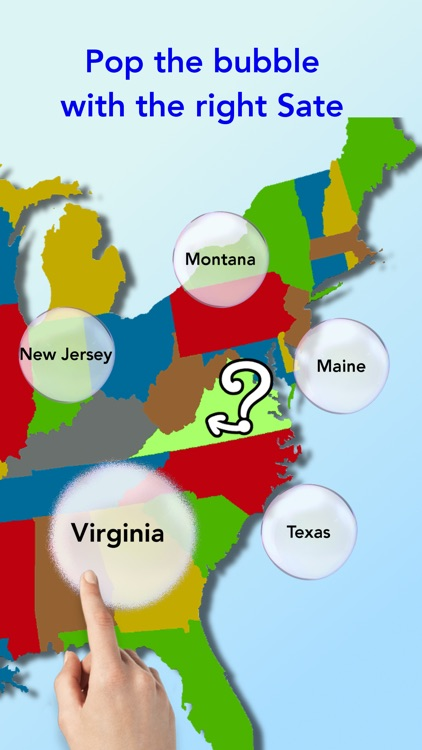 Us bubbles states capitals quiz fun easy game for kids to us bubbles states capitals quiz fun easy game for kids to learn gumiabroncs Images