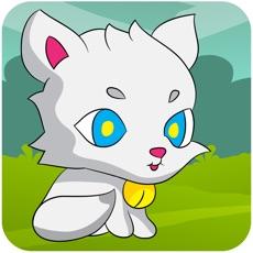 Activities of Little kitten adventure - Greedy white cat running