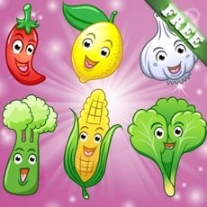 Activities of Fruits and Vegetables for Toddlers and Kids : discover the food ! FREE app