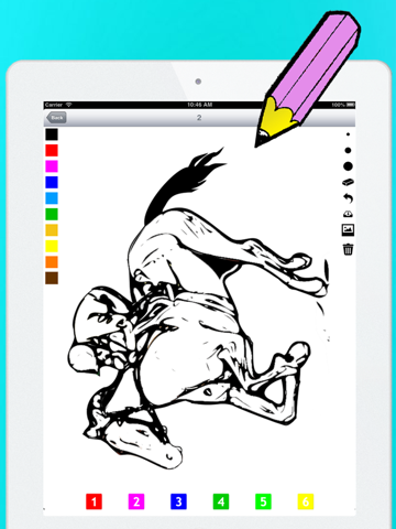 Actief! Kleurboek van Paarden Voor Kinderen: Leren Om Te Schilderen en Kleur van het Paard iPad app afbeelding 5
