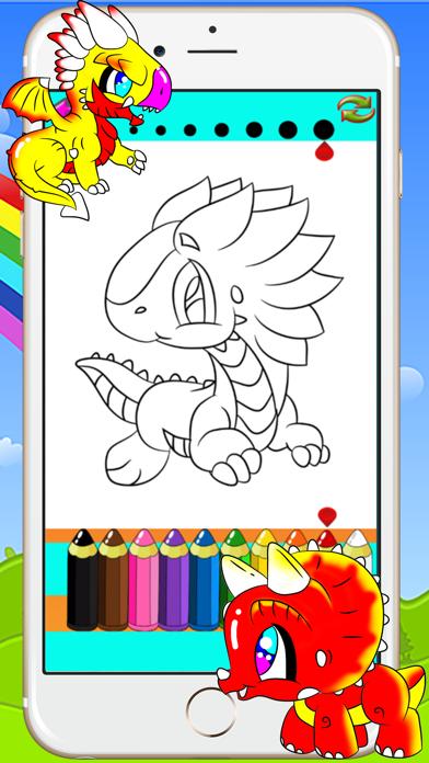恐竜とドラゴン着色書籍 - 子供のためのデッサン絵画ゲームのスクリーンショット3