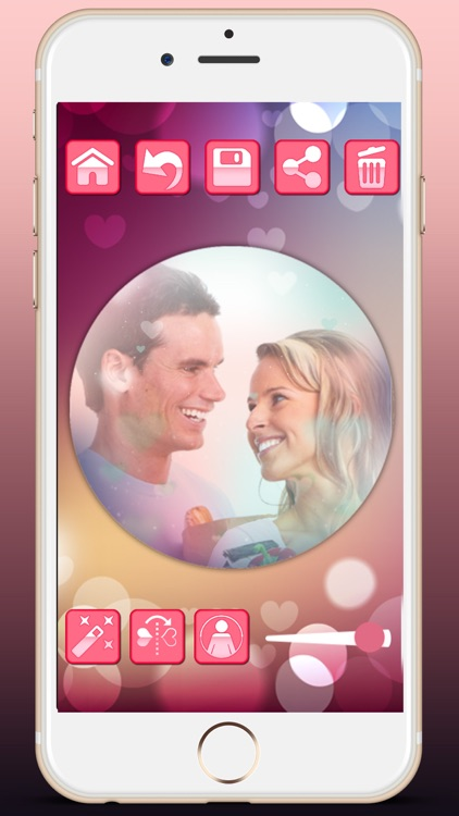 Love profile photo editor - for social networks in Valentine's Day screenshot-4