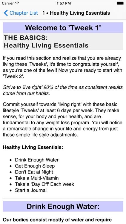 Tweek-a-Week: Weight Loss