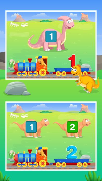 Dinosaur Number Train Game for Kids Free screenshot two