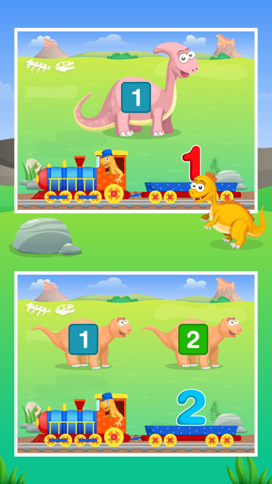 Dinosaur Number Train Game for Kids Free screenshot two