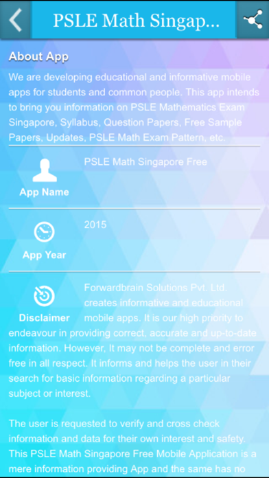 PSLE Math Singapore Free | App Price Drops