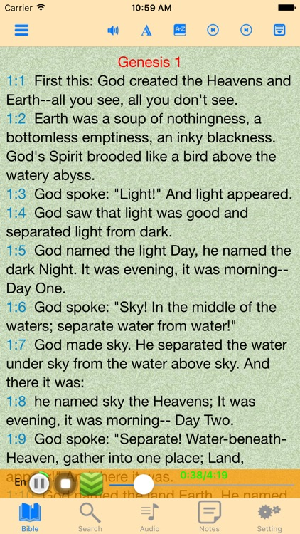 The Message Audio Bible offline scriptures screenshot-0