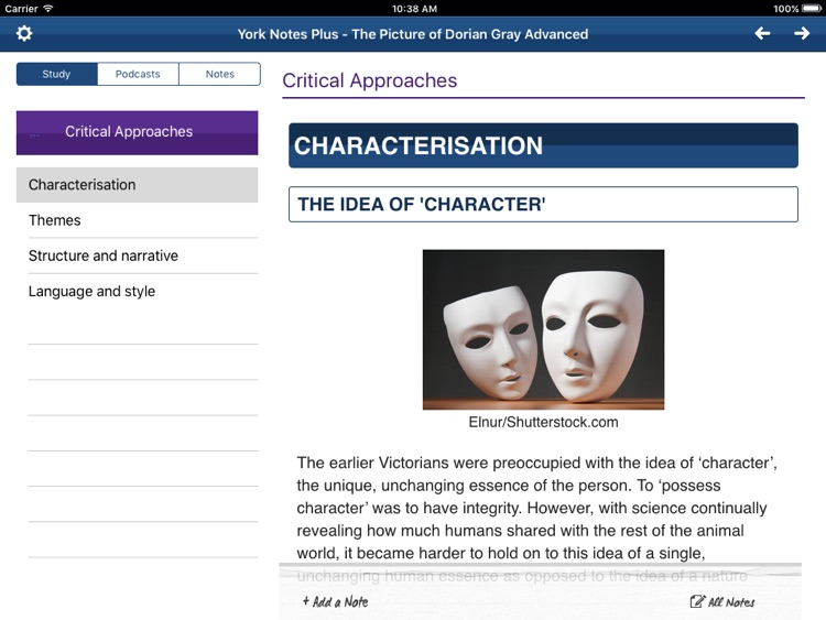 The Picture of Dorian Gray York Notes Advanced for iPad