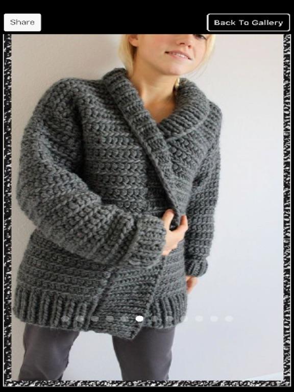 25dec5c622eee1 ... Screenshot  2 for Crochet Sweater Patterns ...