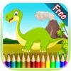恐龙图画书 - 绘画七彩虹为孩子们免费游戏
