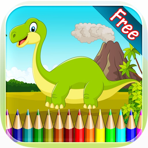 Dinosaur Coloring Book - Drawing and Painting Colorful for kids games free iOS App
