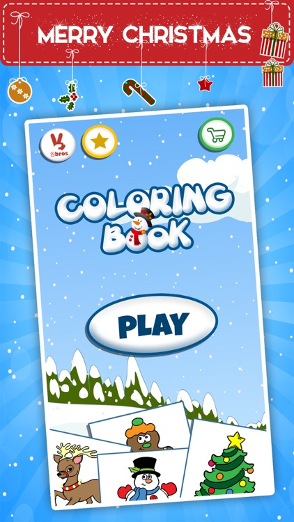 Winter coloring book for toddlers: Kids drawing, painting and doodling games for children screenshot-4
