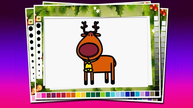 Kleurplaten Abc Elfjes.Kerst Kleurplaten Paint Your Rendier Kerstboom En Gift In
