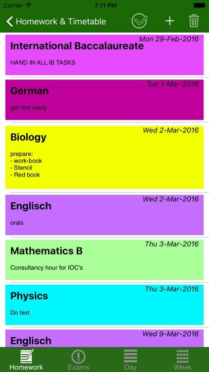 HomeWork & Timetable App screenshot-4