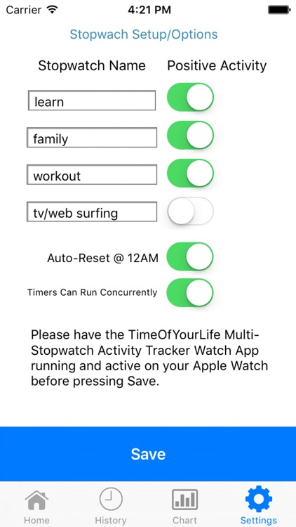 TimeOfYourLife Pro Self Improvement App for Watch screenshot-3