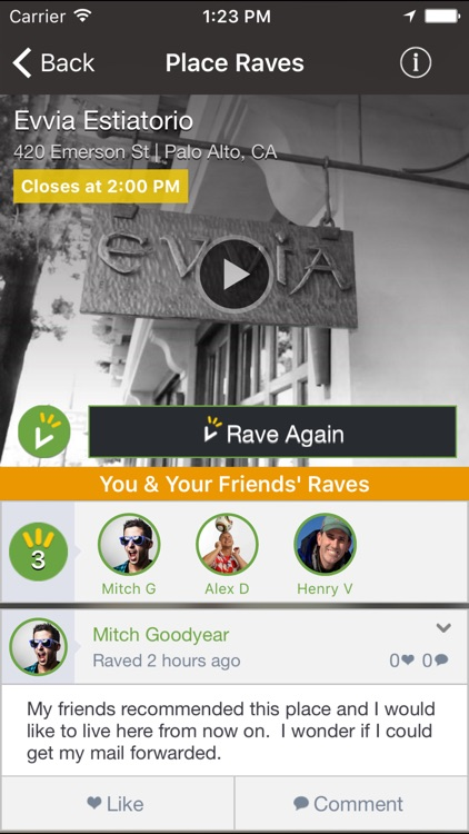 Raved - Guide to Great Restaurants, Bars & Stores Nearby