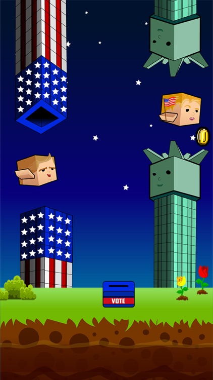 Flappy Donald Trump vs. Hillary Election Run – Face Off Flyer President