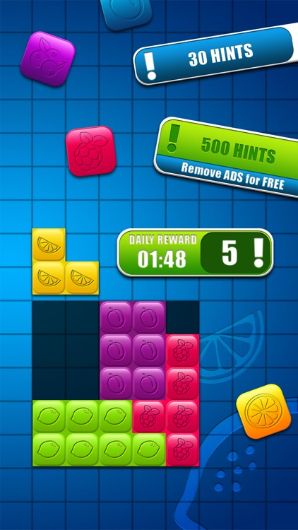 Fruit Block Puzzle Game – Fit Colorful Blocks and Solve HD Levels for Brain Training in10/10 Box screenshot-4