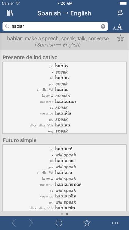 Spanish-English Translation Dictionary and Verbs