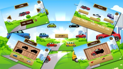 Cars and Trucks Puzzle Vocabulary Game for Kids and