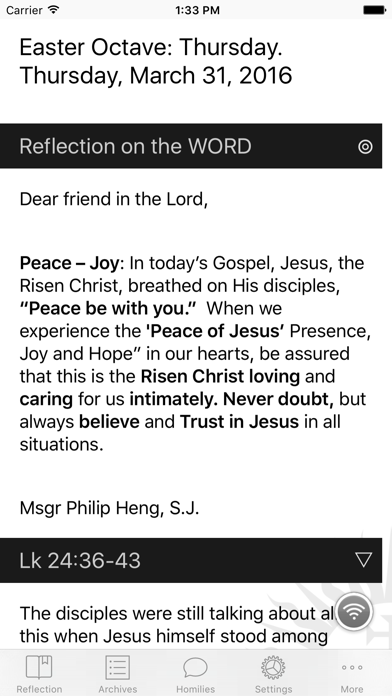 DGems: Daily Gospel Reflections by Msgr Philip Heng, S J  by Philip