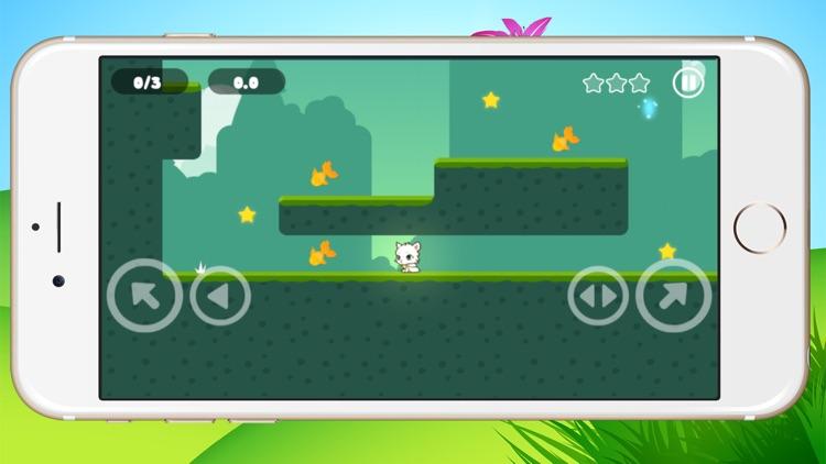 Little kitten adventure - Greedy white cat running screenshot-3