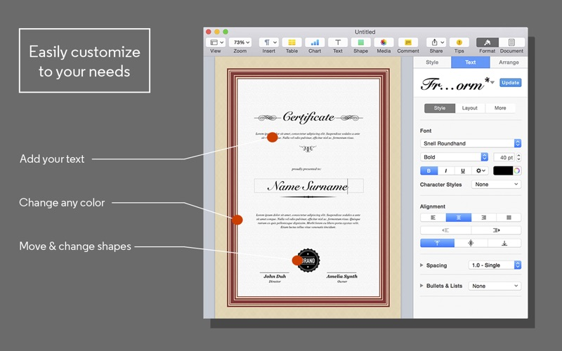 certificate maker for pages app price drops