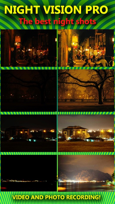 Night Vision True HDR - See In The Dark (NightVision Real In Low Light Mode) Green Goggles Binoculars with Camera Zoom Magnify (Video, Photo) and Private / Secret Folder Pro screenshot one