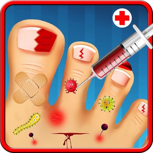 クレイジー小さなモンスターつま先爪仮想外科ドクター - 無料の楽しい子供病院ゲーム