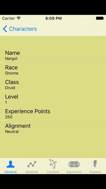 PF Character Sheet