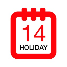 Holiday Calendar Canada 2016 - Public Statutory Canadian Holidays for Vacation and free time Planning